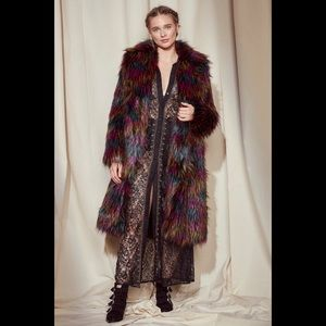 Nasty Gal Black Studio Faux Fur Jacket NWT SM